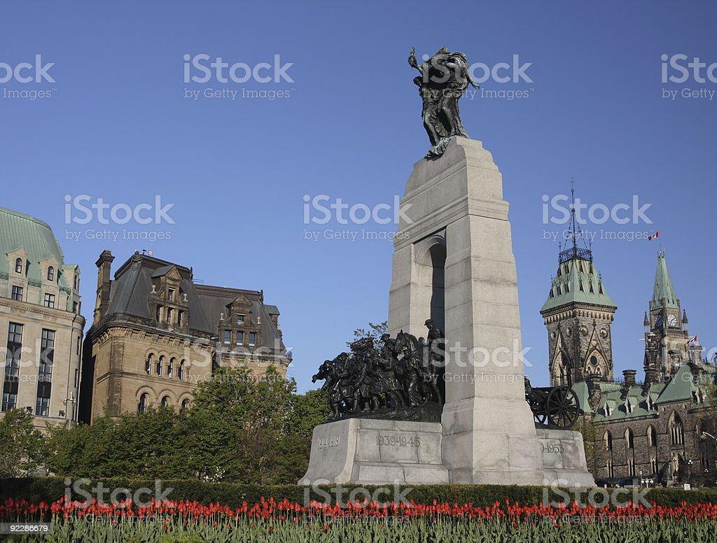 War Memorial Tulips - Horizontal stock photo