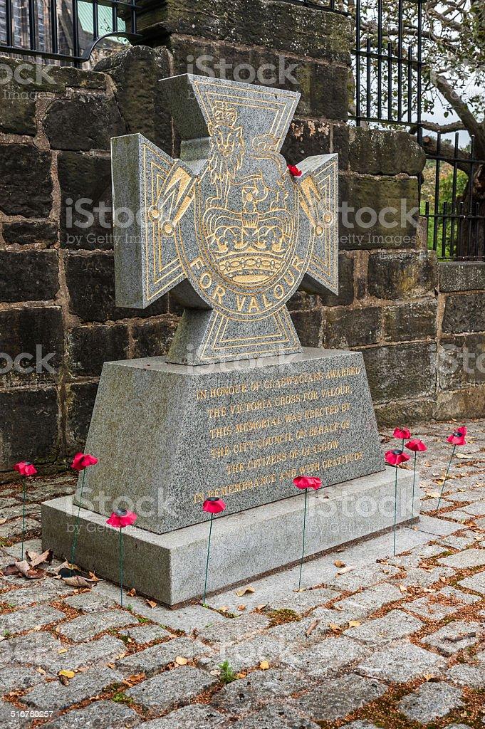 War memorial Victoria Cross stock photo