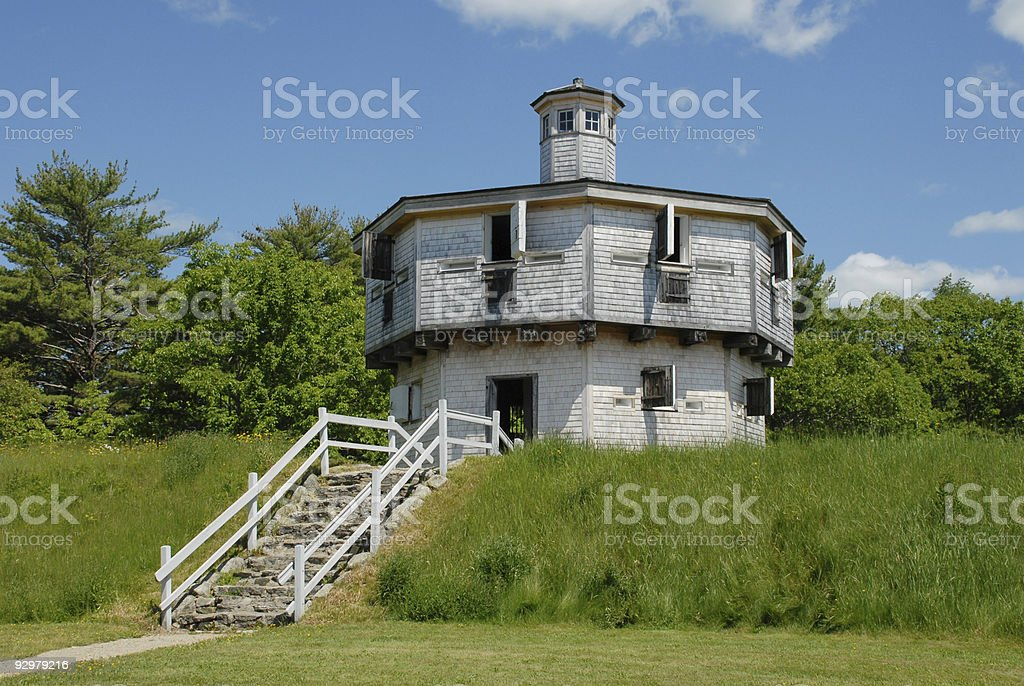 War of 1812 blockhouse in Maine royalty-free stock photo