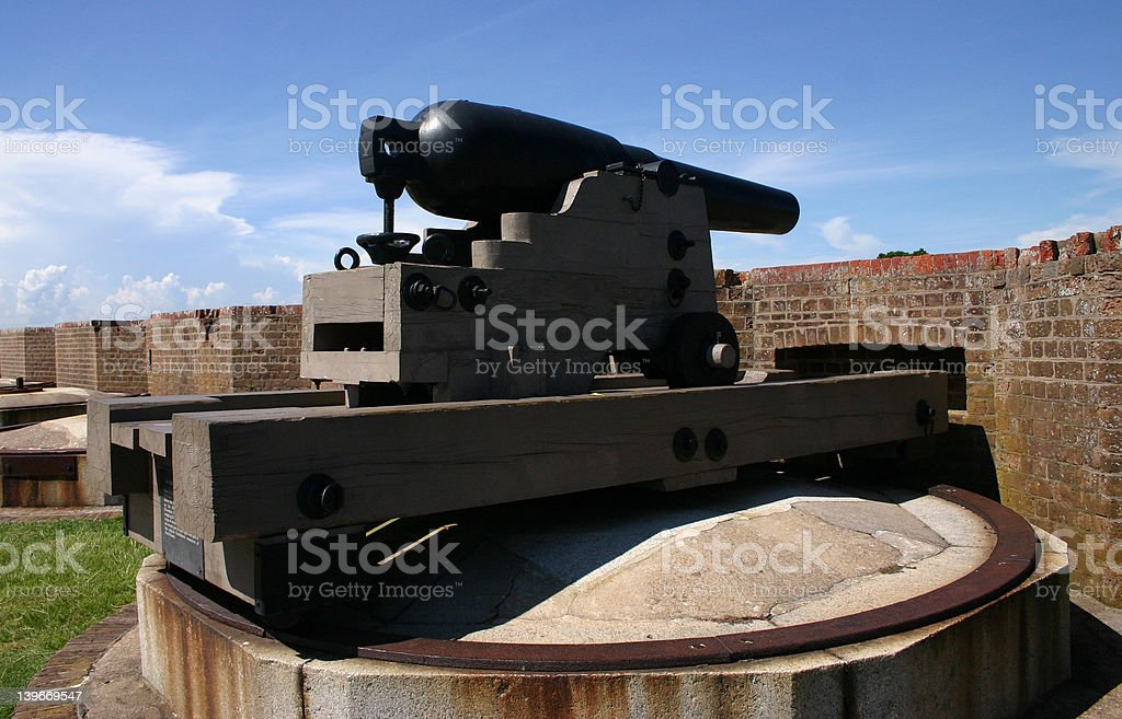 War of 1812 Cannon stock photo