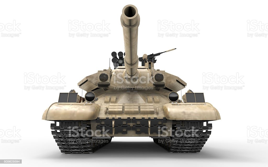 War of Soviet tank and Army Isolated stock photo