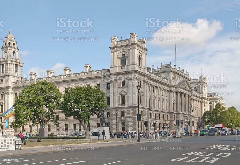 War Office building on Whitehall, London stock photo