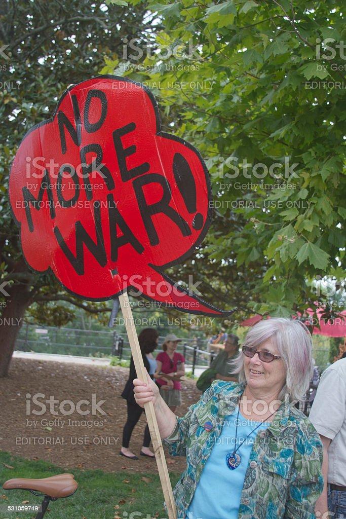 War Protester stock photo