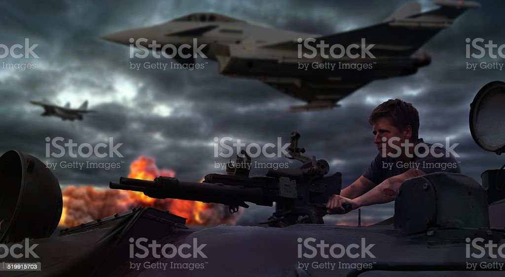 War scene stock photo
