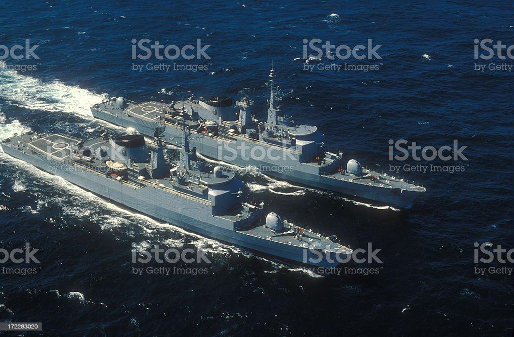 War ship royalty-free stock photo
