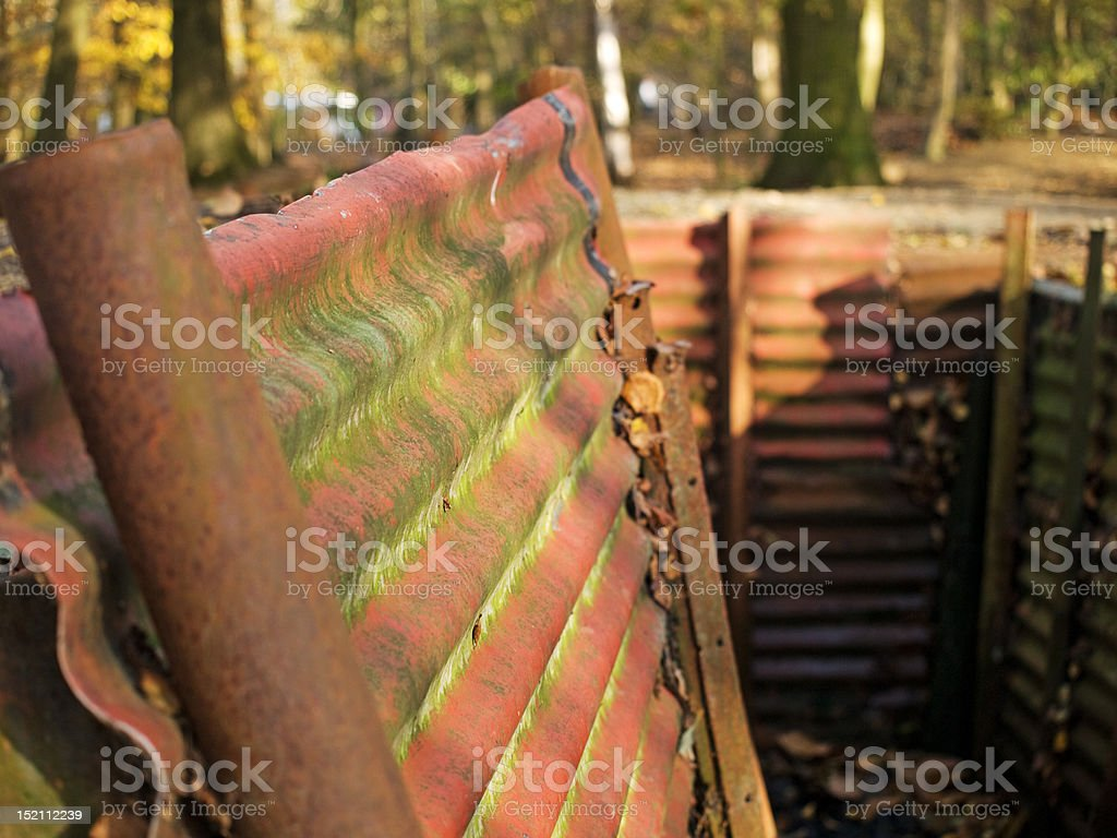 War trenches stock photo