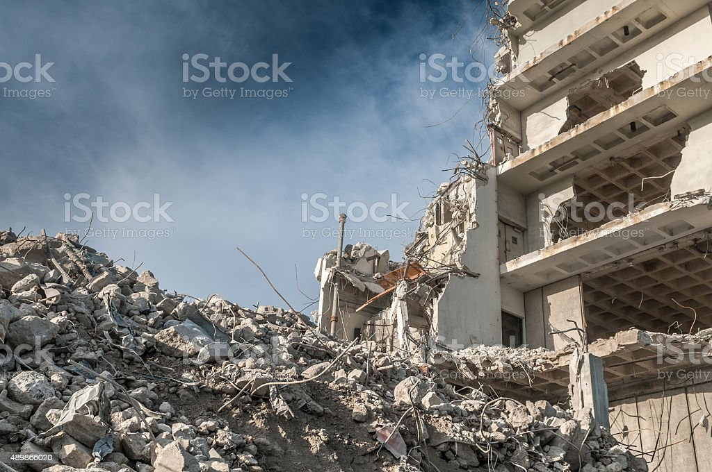 War zone stock photo