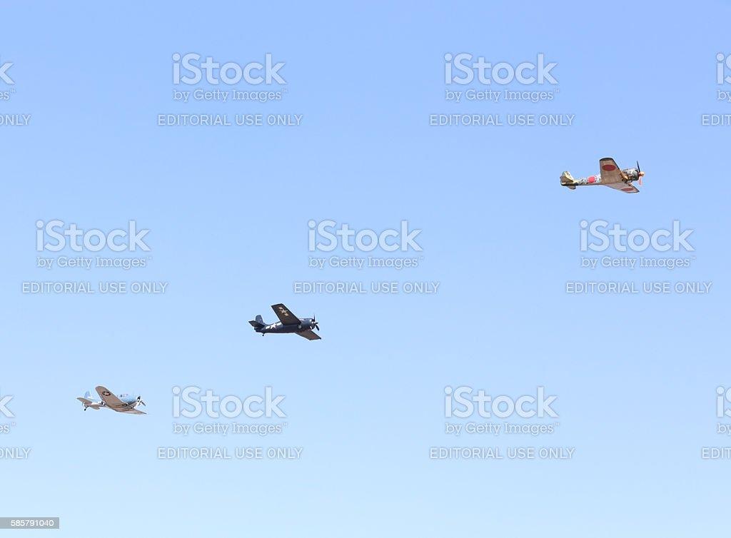 Warbirds stock photo