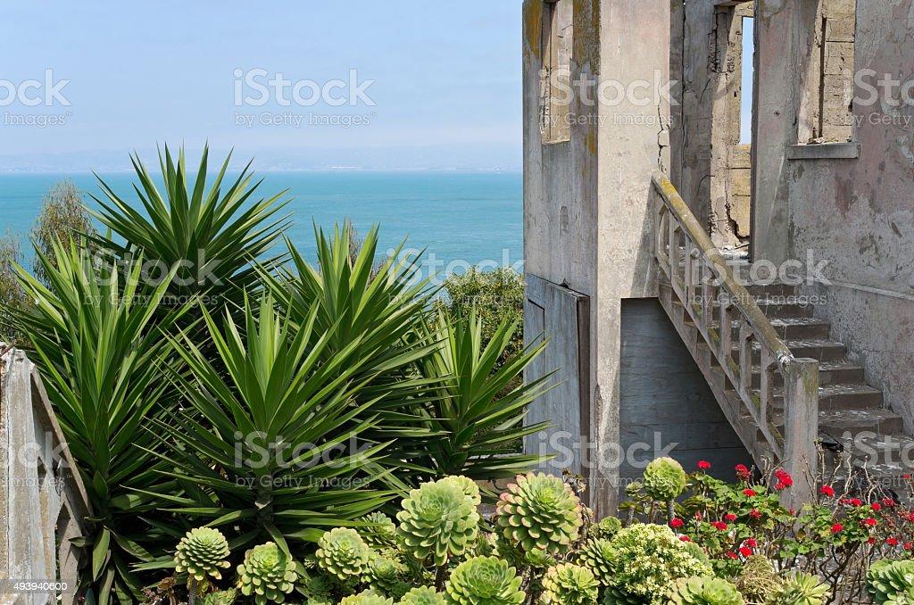Guarda de casa e jardim de Alcatraz - foto de acervo
