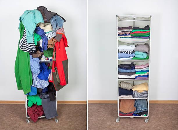 Garderobe vor und nach – Foto