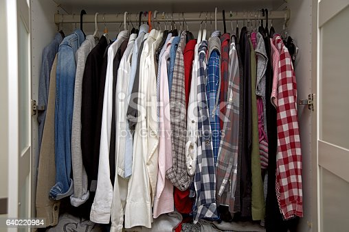 istock Wardrobe Full Of Clothes 640220984