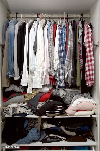 istock Wardrobe Full Of Clothes 640221790