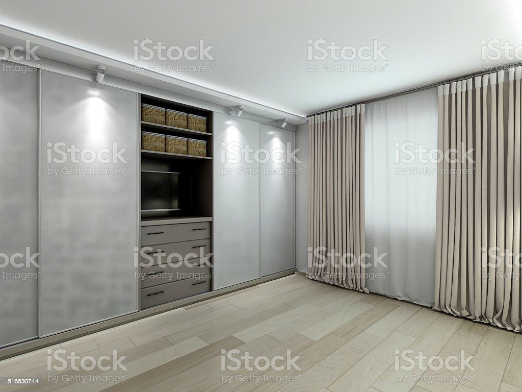 Garderobe im modernen Interieur Abbildung – Foto
