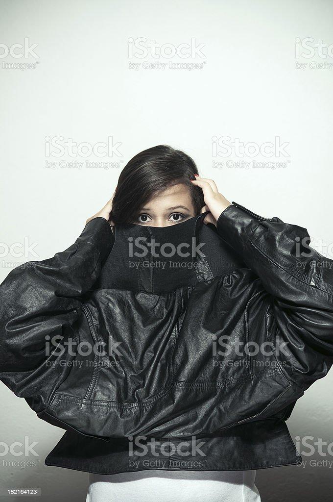 Wardrobe malfunction royalty-free stock photo