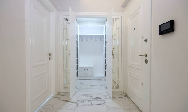 Wardrobe Room at the Entrance of New Home