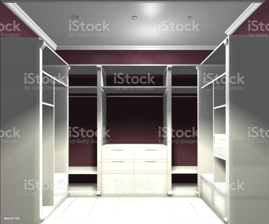 Garderobe Dressing Zimmer Garderobe 3drendering Design ...