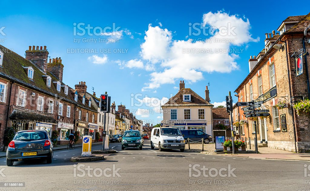 Wareham High Street - Road Junction stock photo
