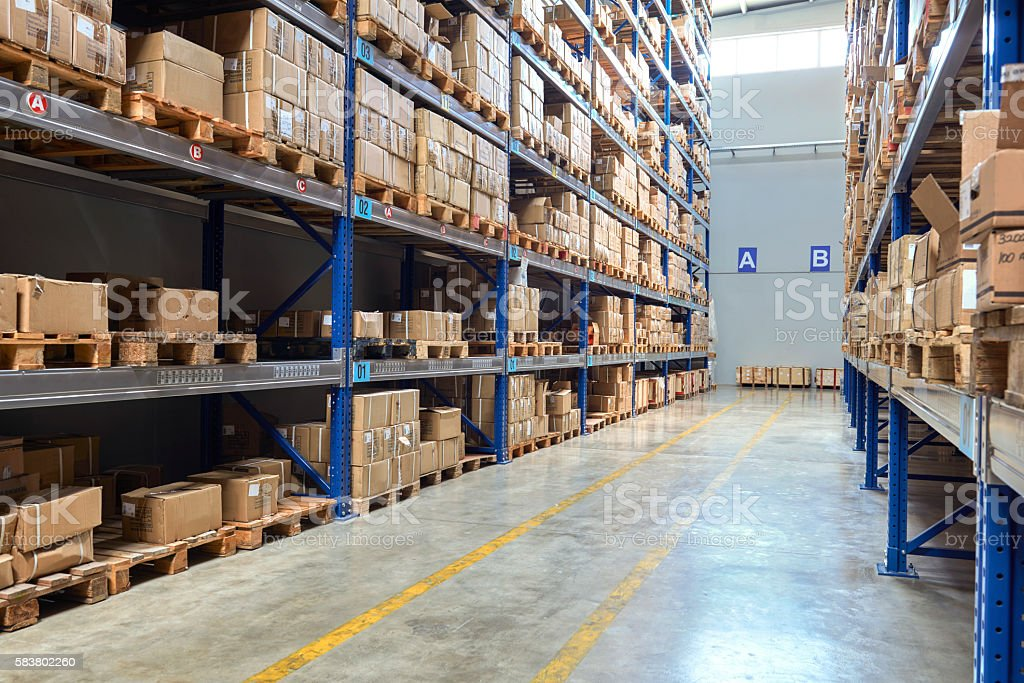 Warehouse Supermarktgang – Foto
