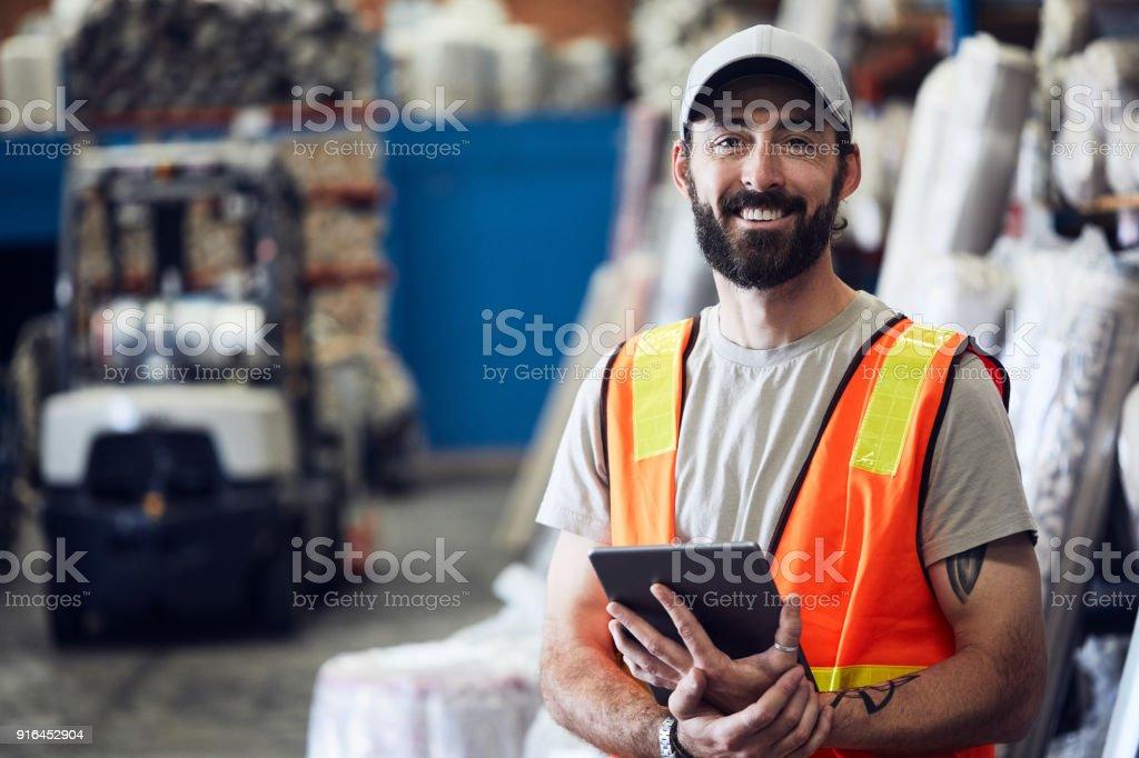 Lager und Industrie Konzept in Australien, arbeiten in mittelständischen Unternehmen. – Foto