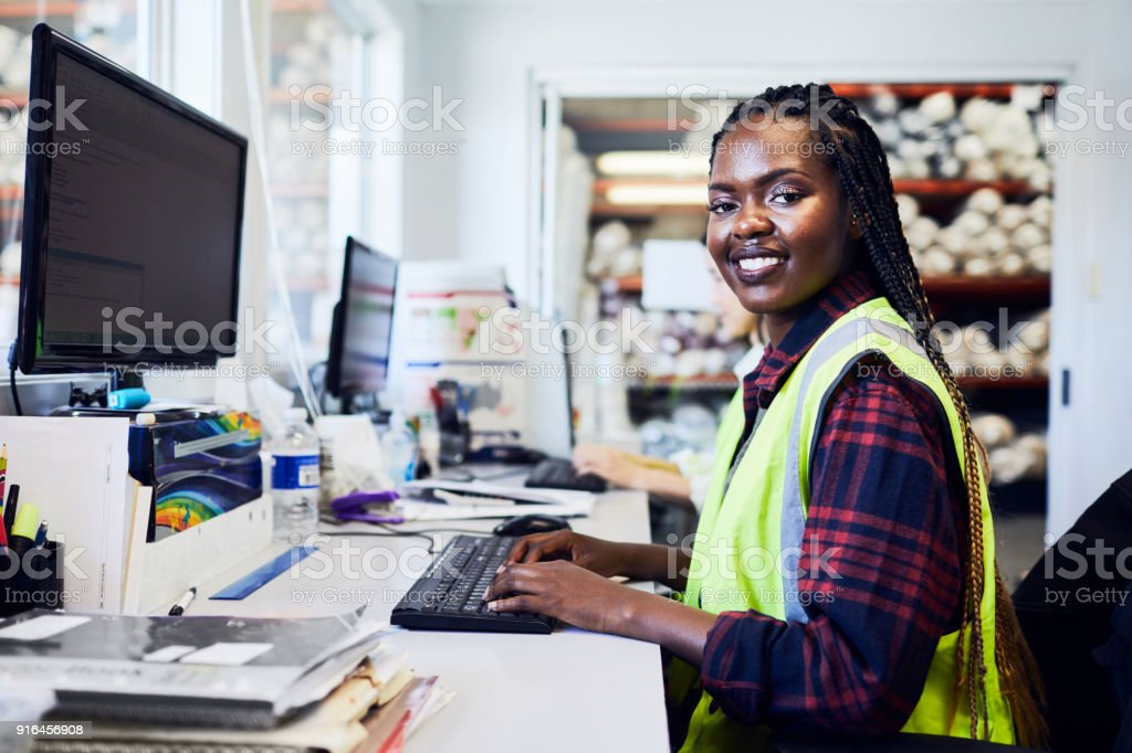 20-24 Years, Adult, Adults Only, African Ethnicity, Manual Worker.  Warehouse and industry concept in Australia ...