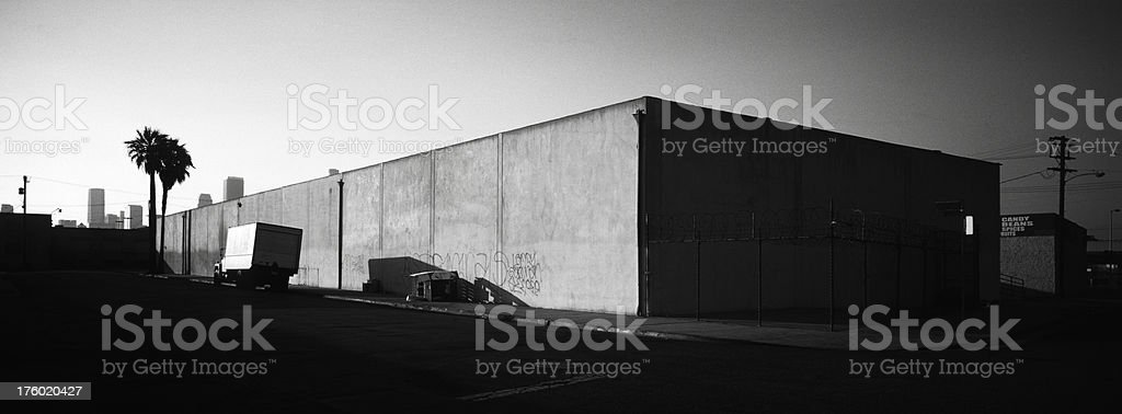 Warehouse and Truck royalty-free stock photo