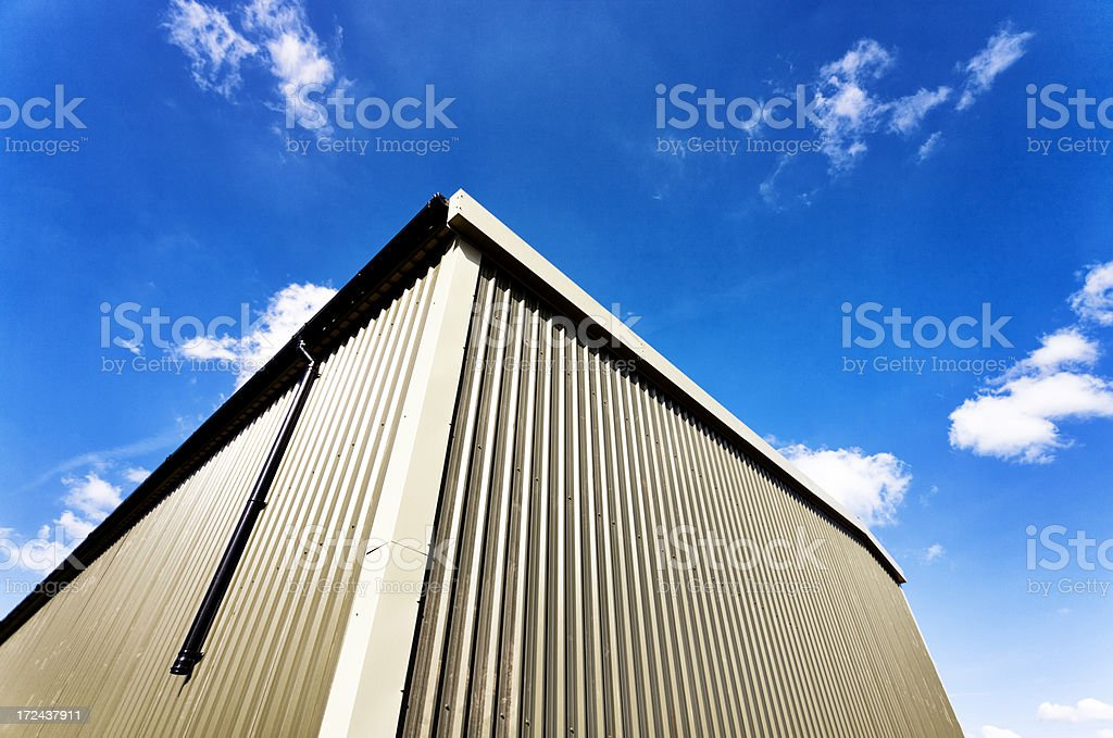 Warehouse angle royalty-free stock photo