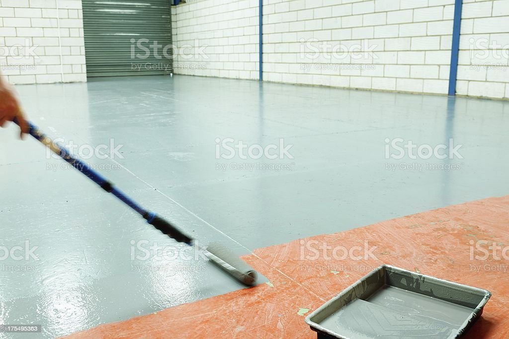 Warehouse Being Renovated stock photo