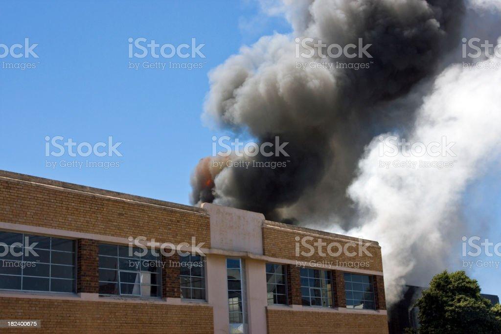 Warehouse blaze royalty-free stock photo