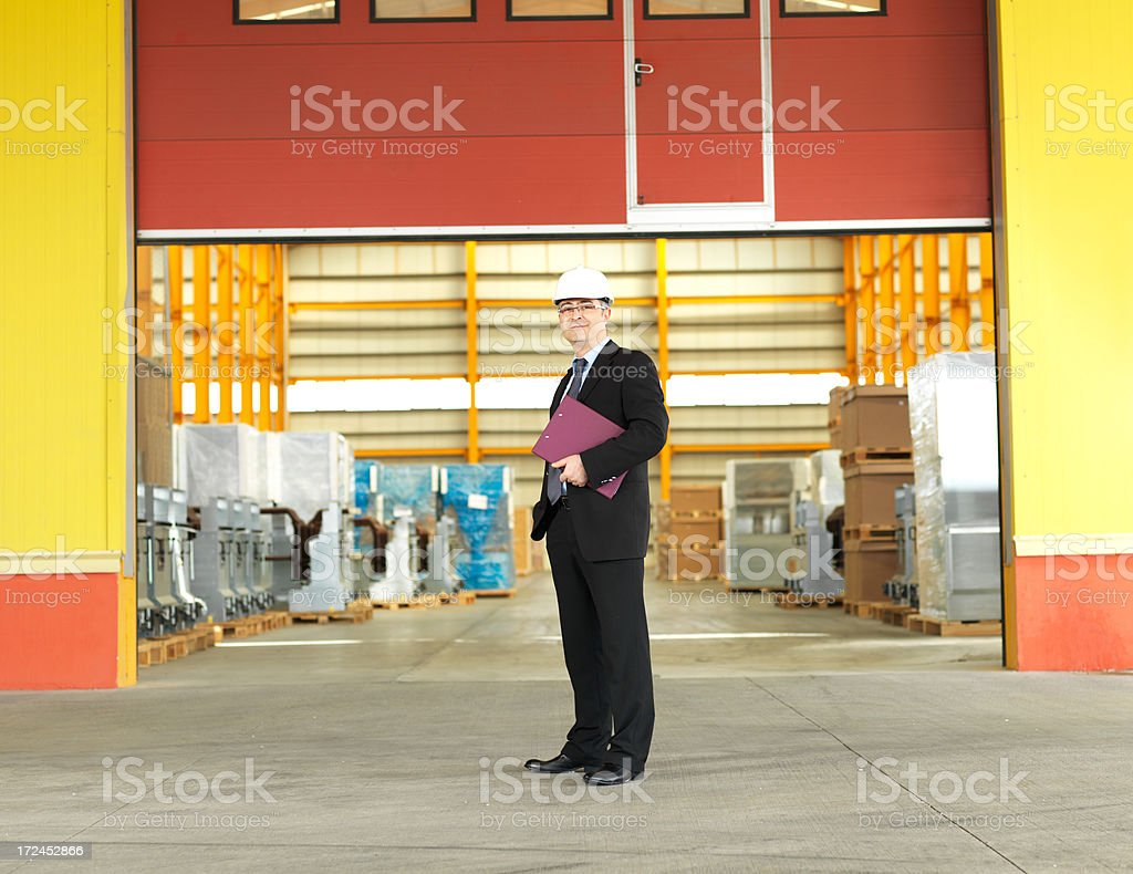 Warehouse Businessman royalty-free stock photo