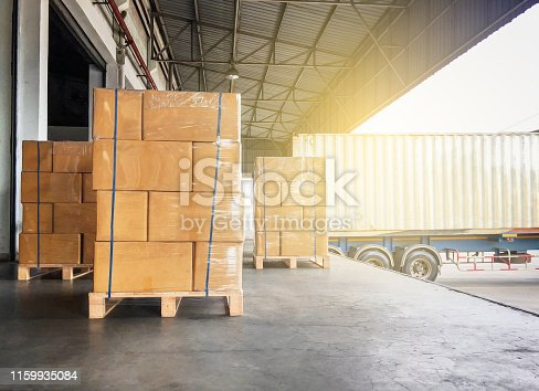 Warehouse cargo courier transportation