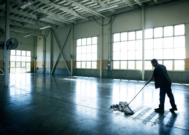 warehouse cleaning - sweeping stock pictures, royalty-free photos & images