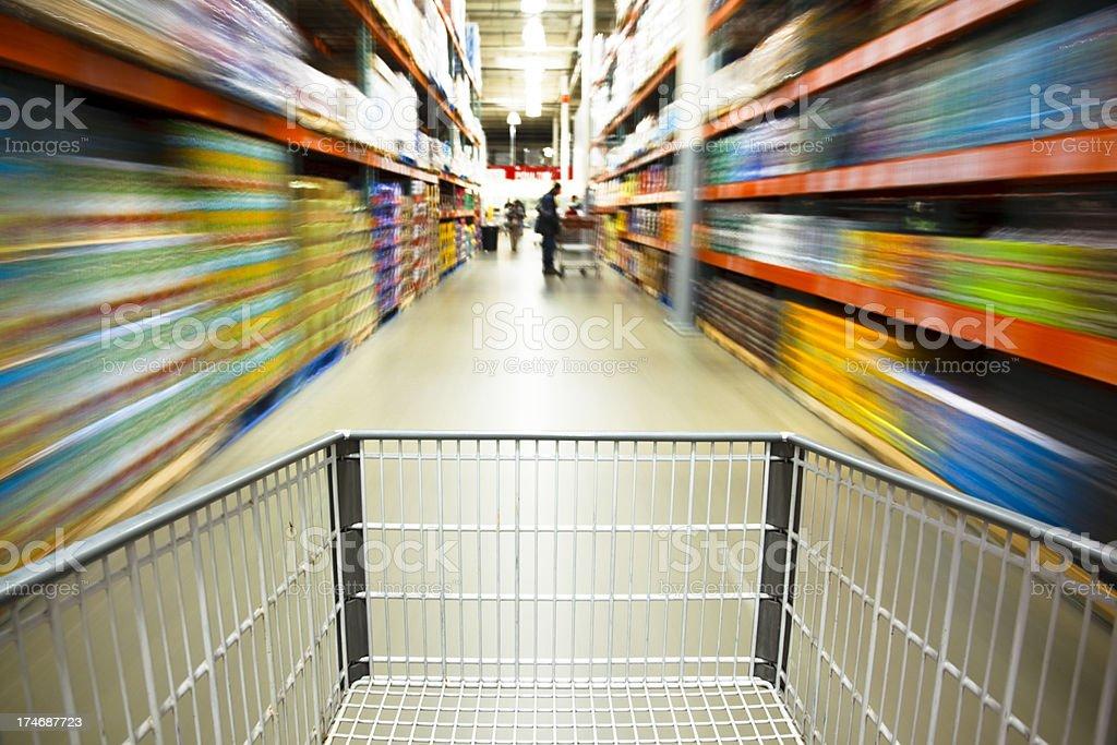 Warehouse club shopping stock photo