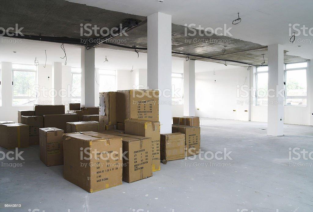 Warehouse concept - Storage boxes royalty-free stock photo