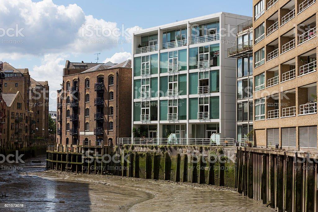 Warehouse conversions in Shad Thames London photo libre de droits