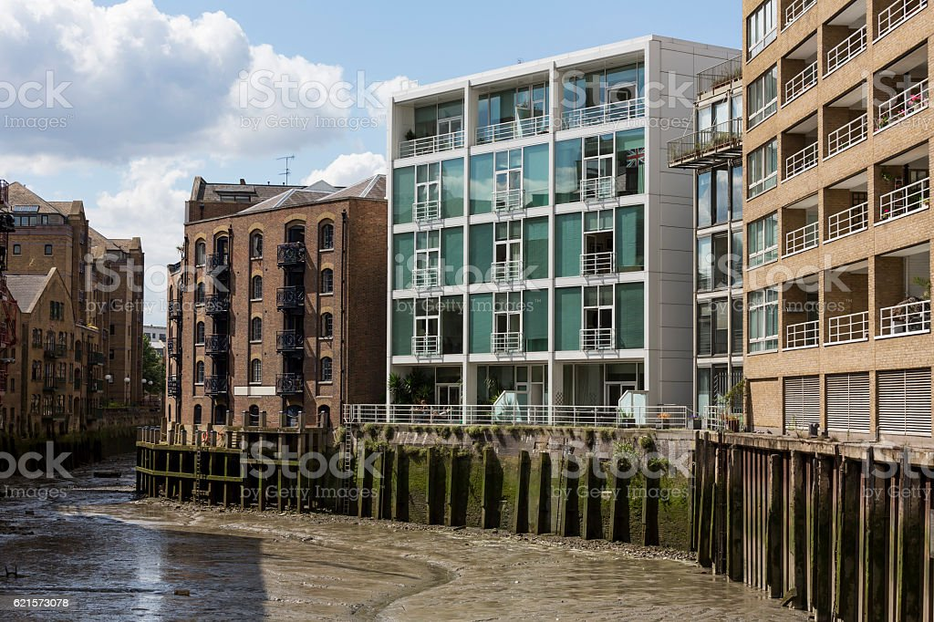 Warehouse conversions in Shad Thames London stock photo