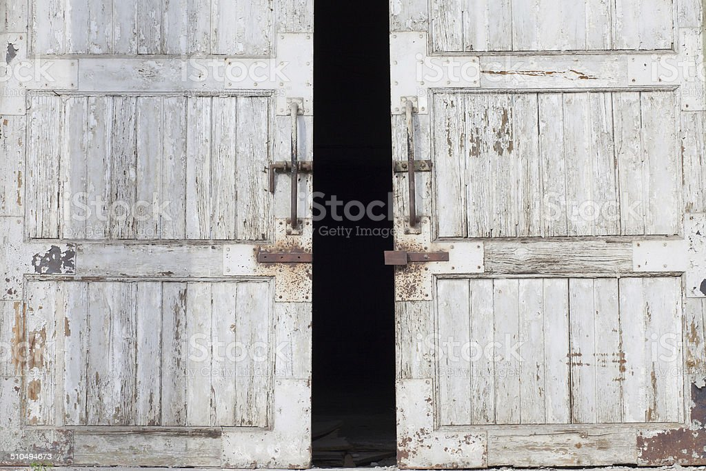 warehouse door stock photo