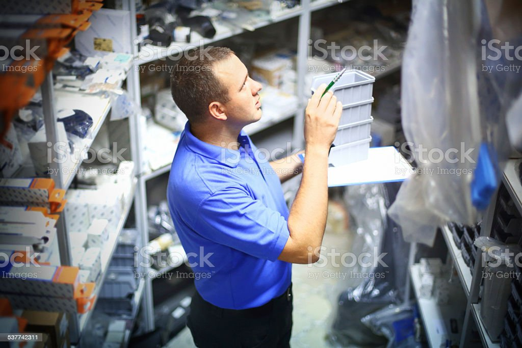 Warehouse employee. stock photo