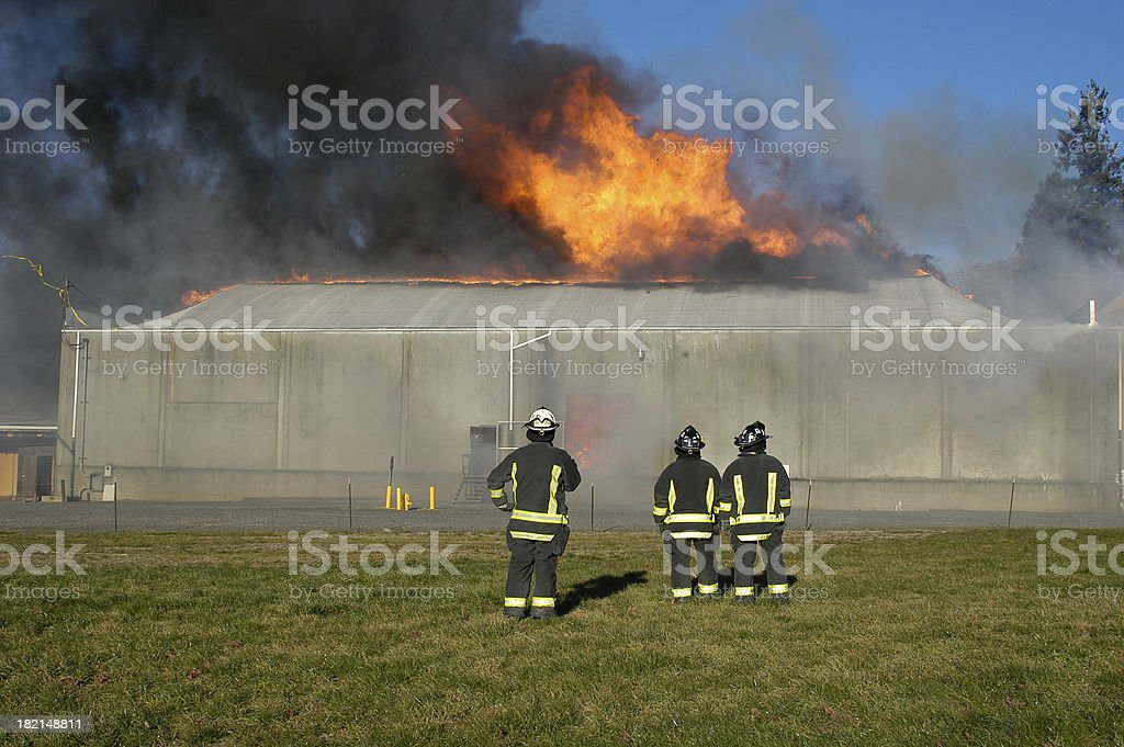 Warehouse Fire royalty-free stock photo