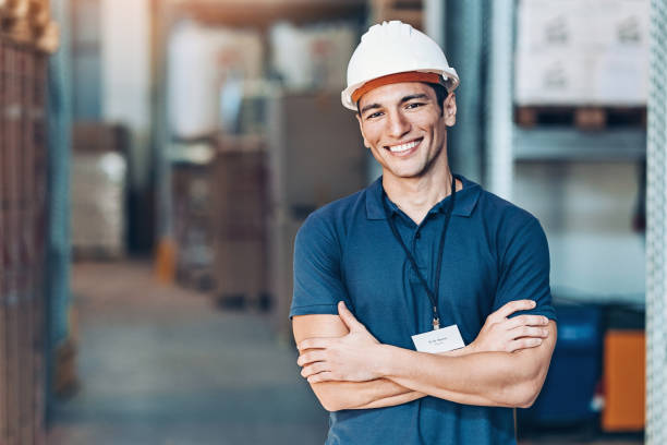 Warehouse foreman stock photo