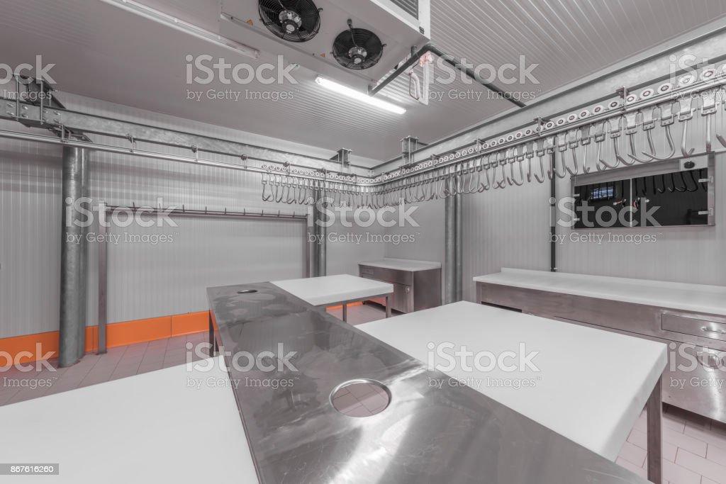 Warehouse freezer stock photo