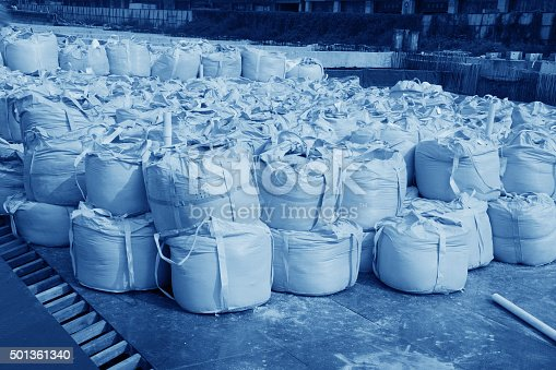 istock Warehouse goods packed in the open air. 501361340