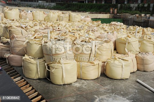 istock Warehouse goods packed in the open air. 510635642