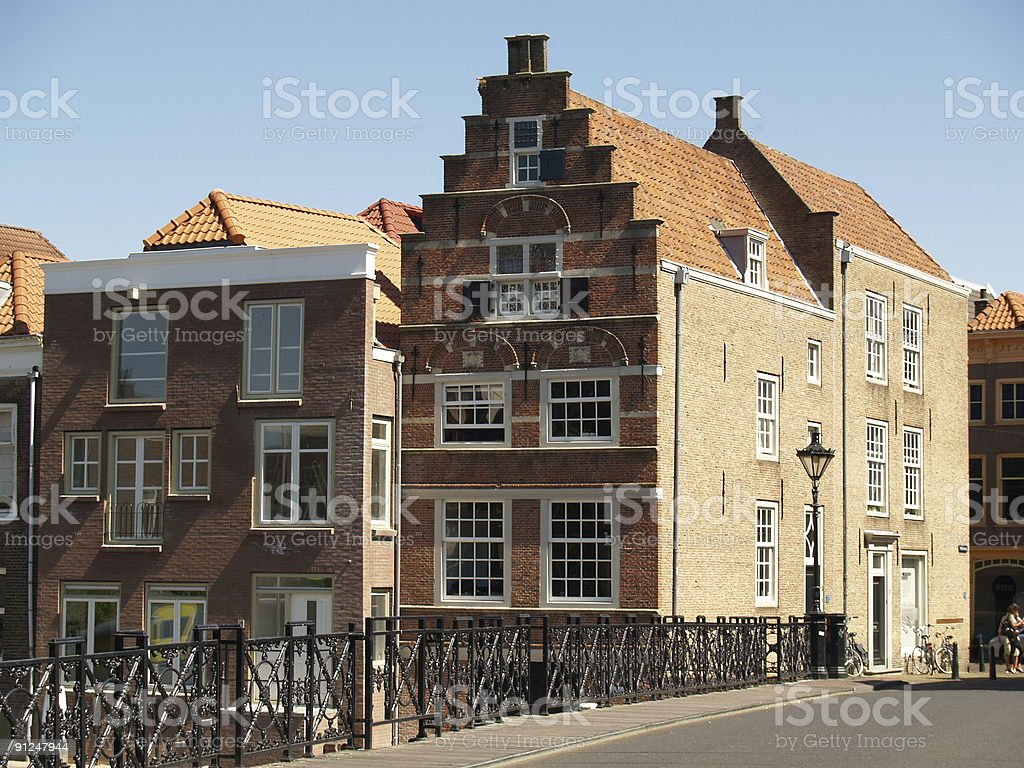 Warehouse in Dordrecht royalty-free stock photo