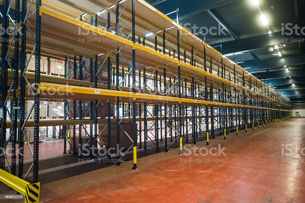 warehouse inside - Hochregallager stock photo