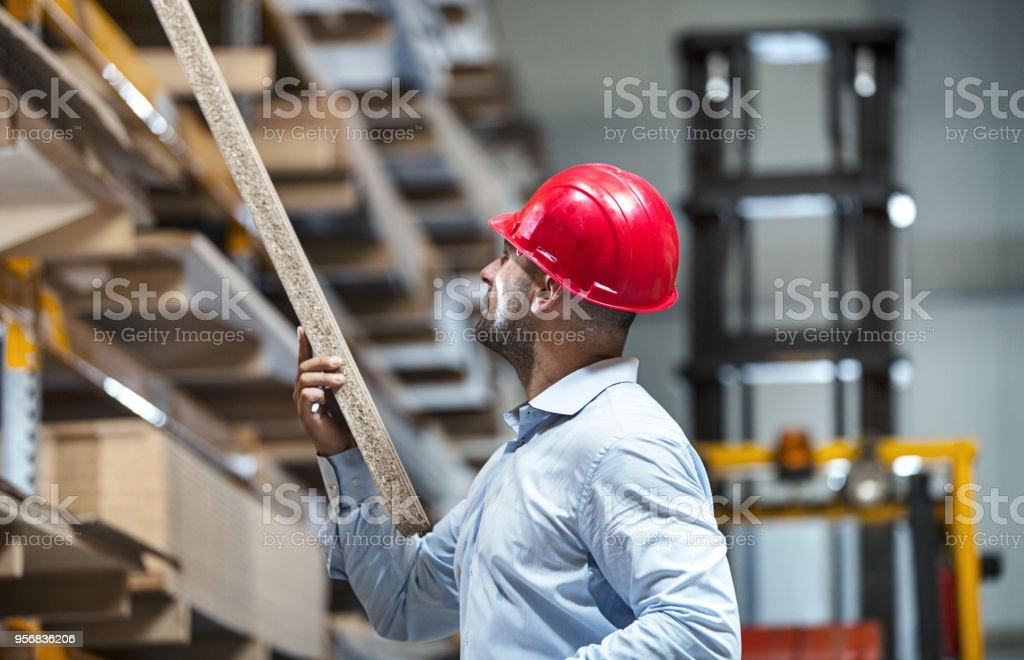Warehouse inspection. stock photo