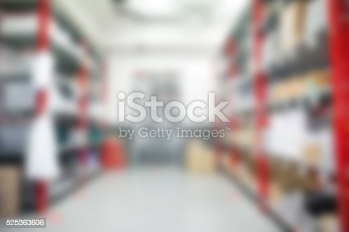 istock Warehouse inventory blurred for background 525363606