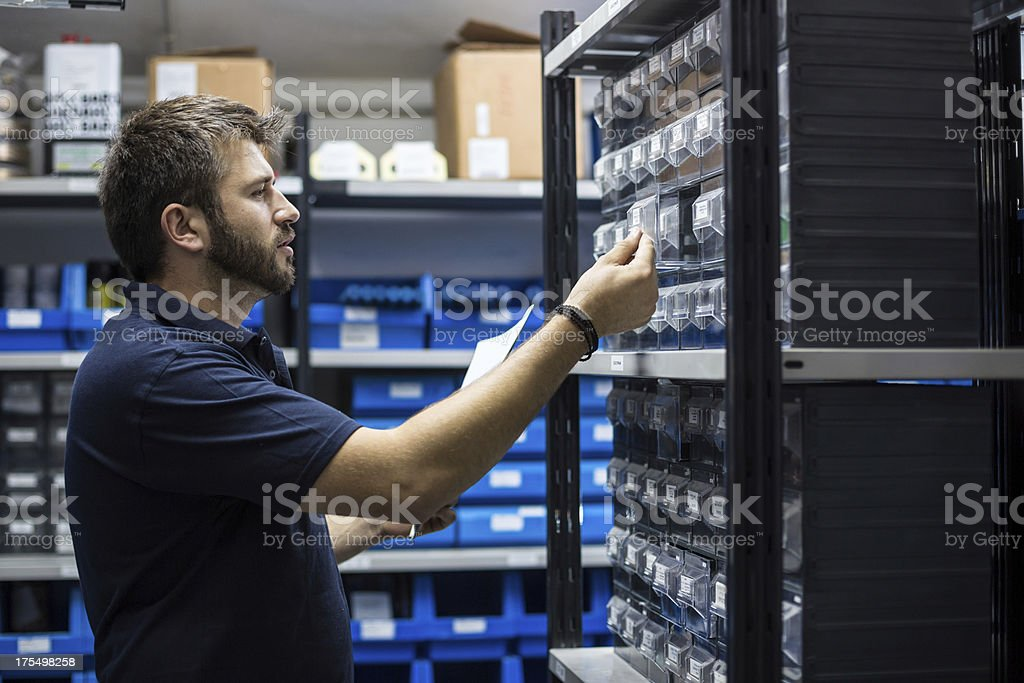 Warehouse keeper. stock photo