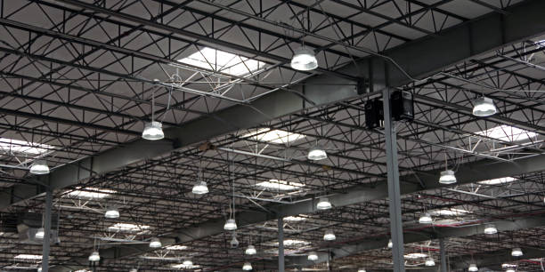 Warehouse Lights stock photo