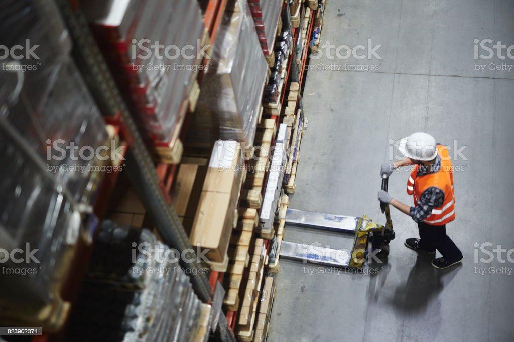 Warehouse Loader at Work стоковое фото