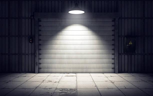 warehouse laderampe innen. 3 d abbildung - alte wagen stock-fotos und bilder